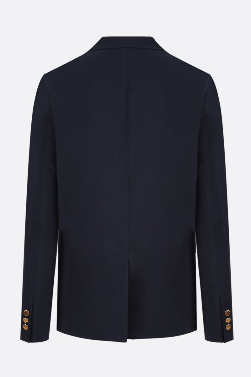GUCCI: cotton wool blend single-breasted jacket Color Blue_2