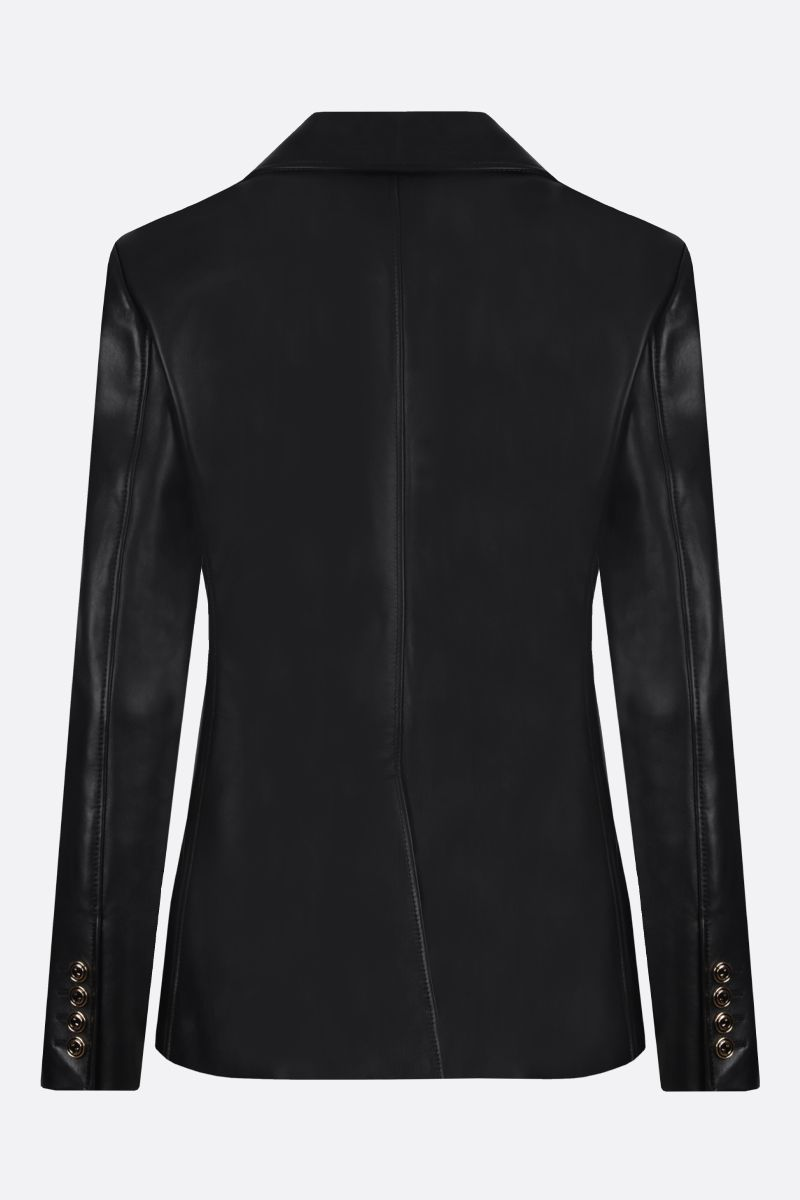 GUCCI: single-breasted soft nappa jacket Color Black_2