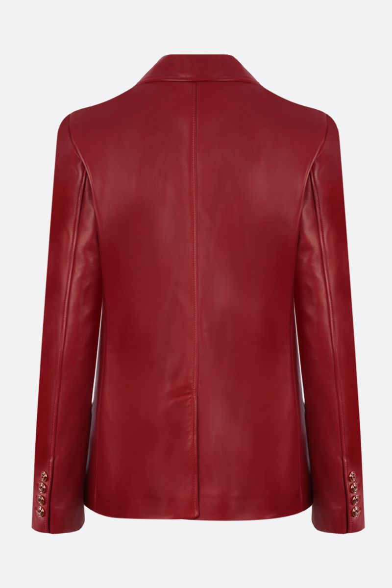 GUCCI: single-breasted soft nappa jacket Color Red_2