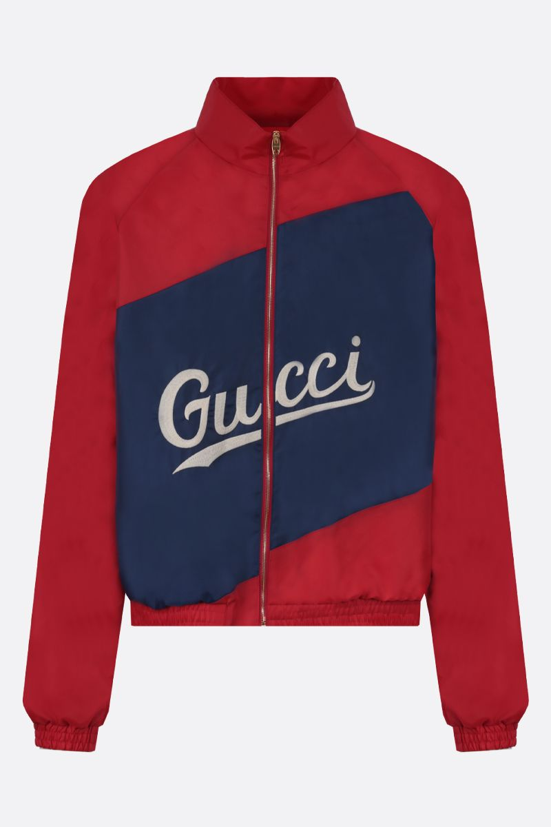 GUCCI: Gucci embroidered nylon full-zip jacket Color Red_1