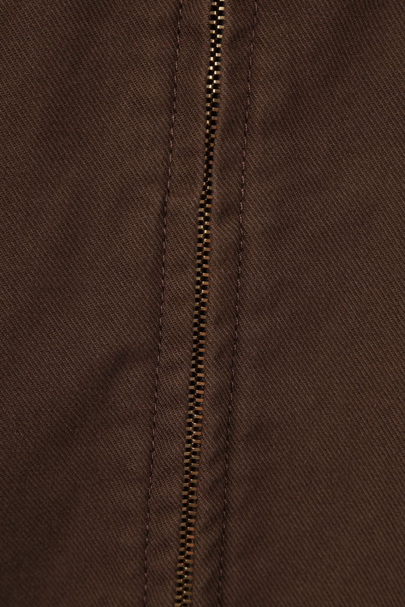 GUCCI: Web-detailed cotton bomber jacket Color Brown_3
