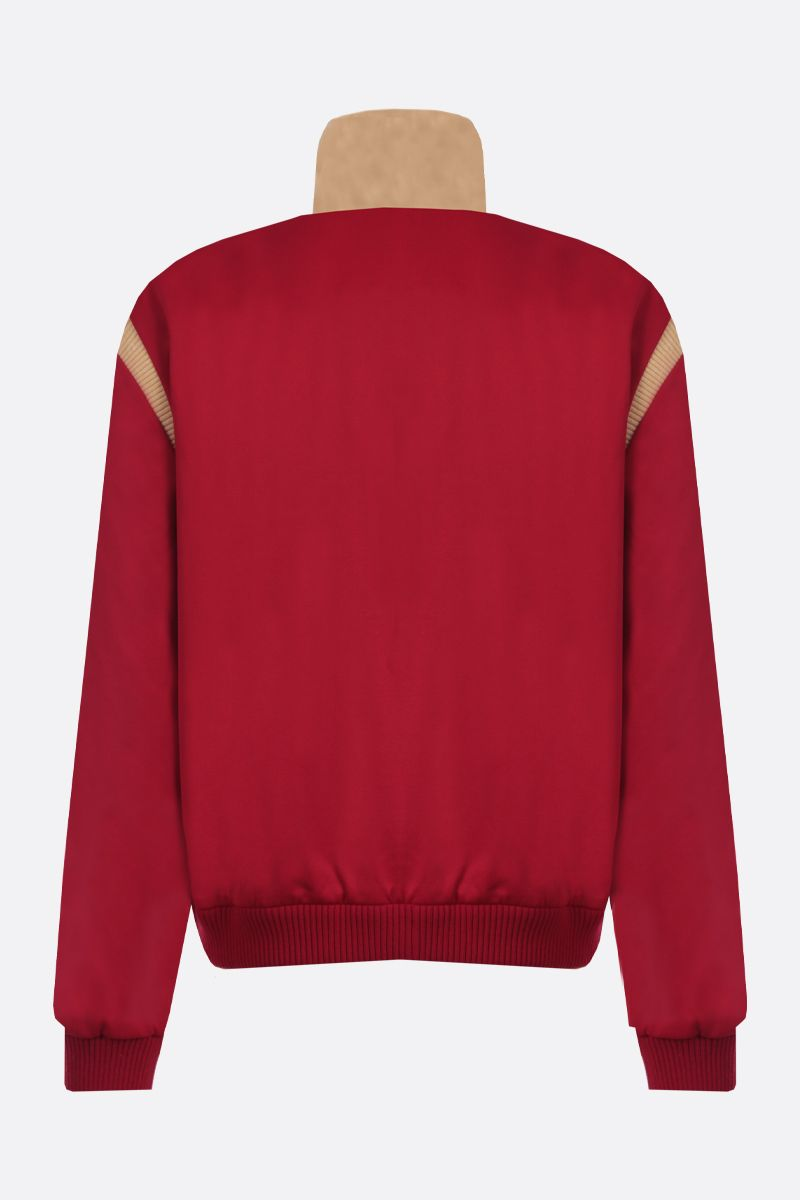 GUCCI: technical jersey and quilted cotton full-zip jacket Color Red_2
