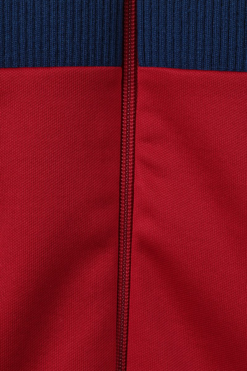 GUCCI: technical jersey and quilted cotton full-zip jacket Color Red_3