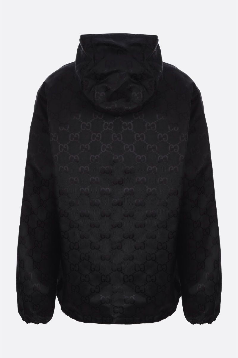 GUCCI: GG nylon hooded windbreaker Color Black_2