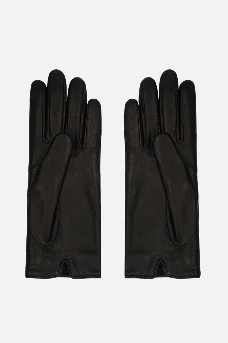 GUCCI: Horsebit-detailed nappa gloves Color Black_2