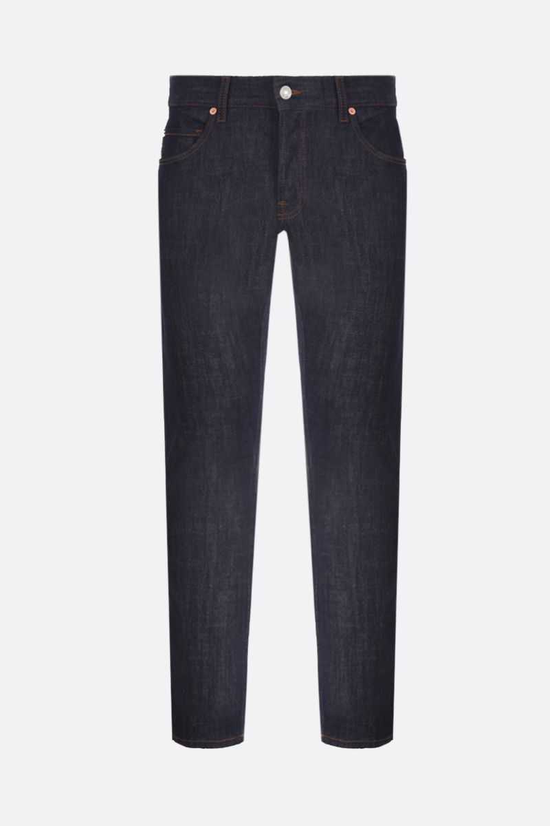 GUCCI: Gucci patch tapered jeans Color Blue_1