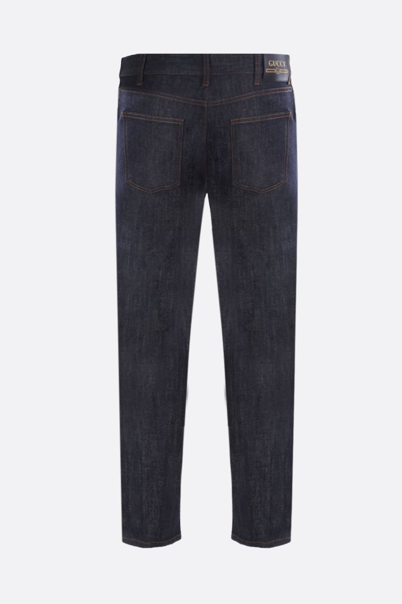 GUCCI: Gucci patch tapered jeans Color Blue_2