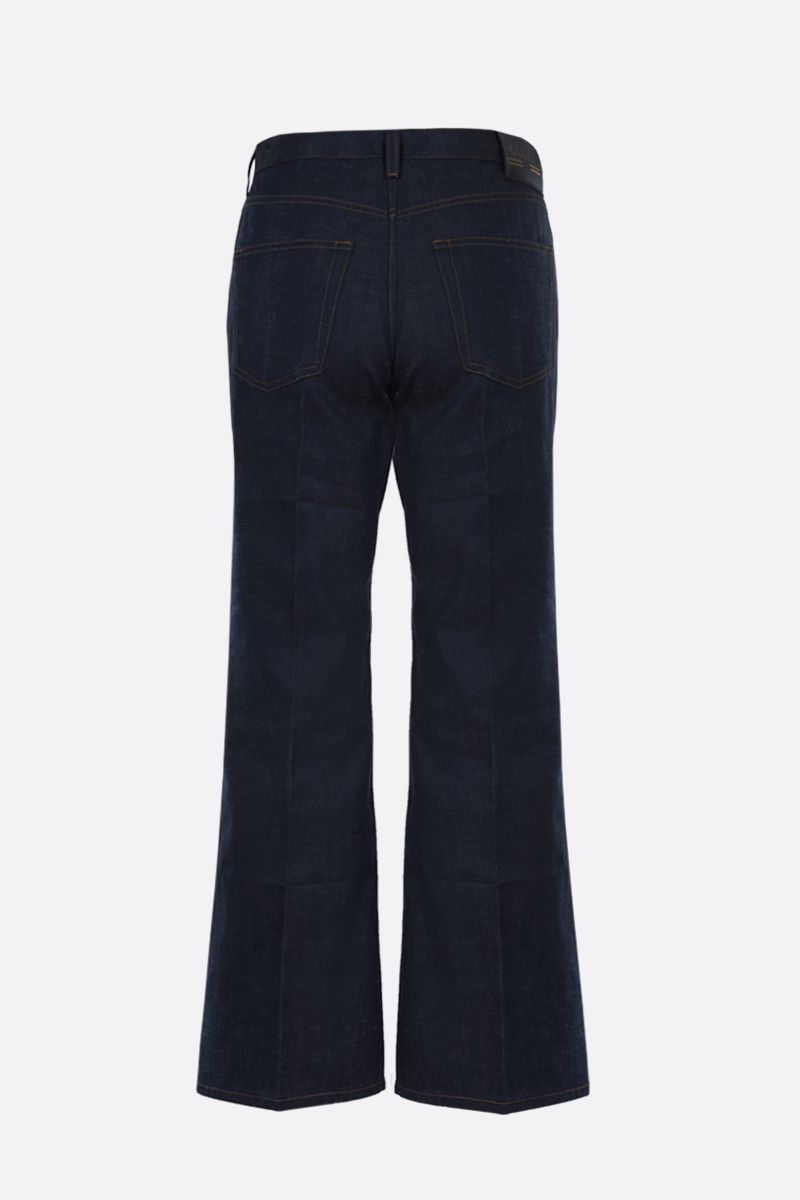 GUCCI: Gucci Boutique label cropped jeans Color Blue_2