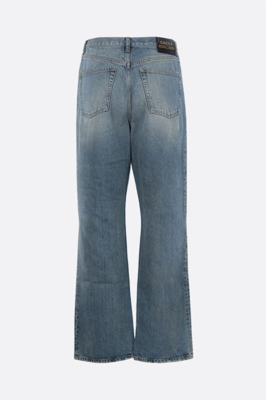 GUCCI: distressed-effect organic cotton jeans Color Blue_2