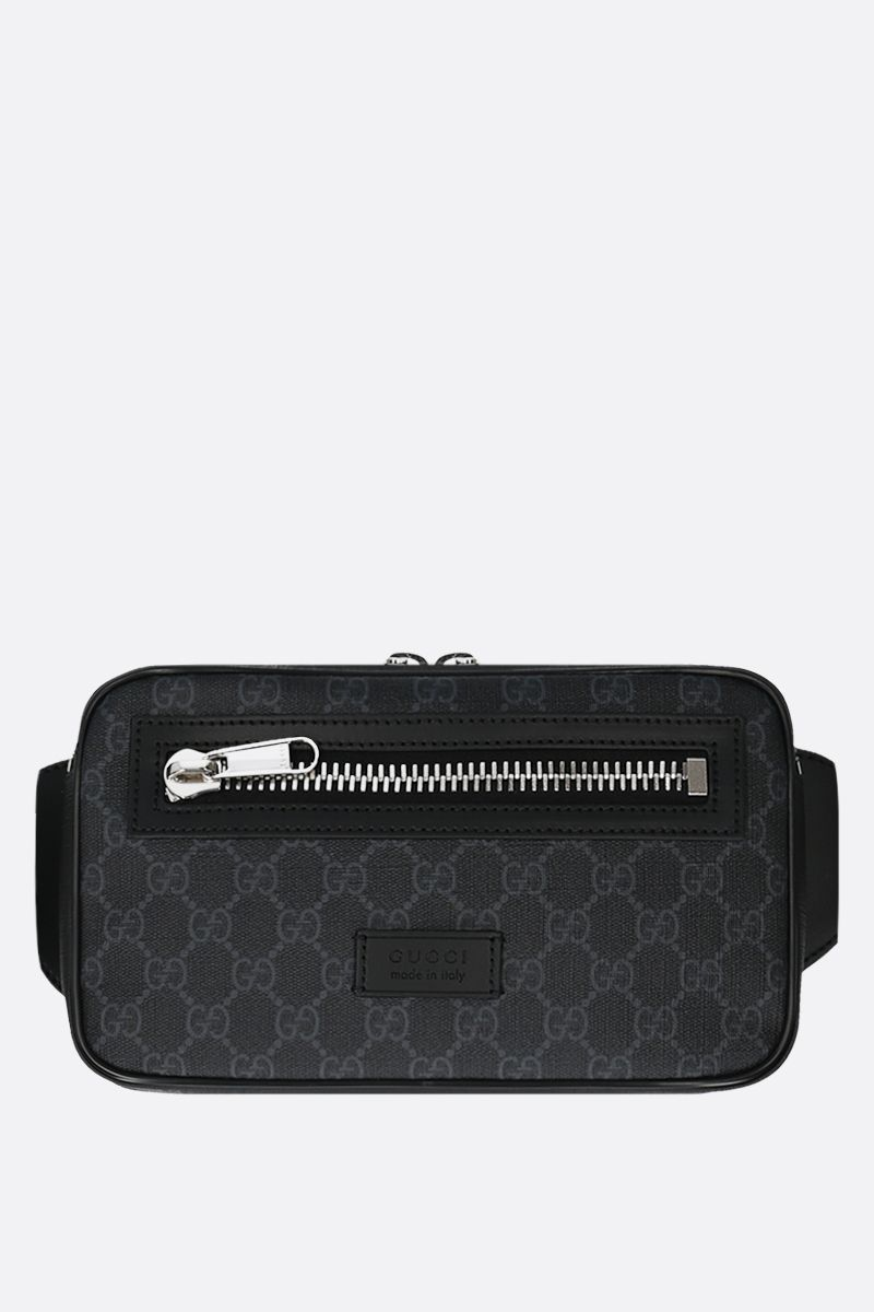 GUCCI: GG Supreme canvas belt bag Color Black_1