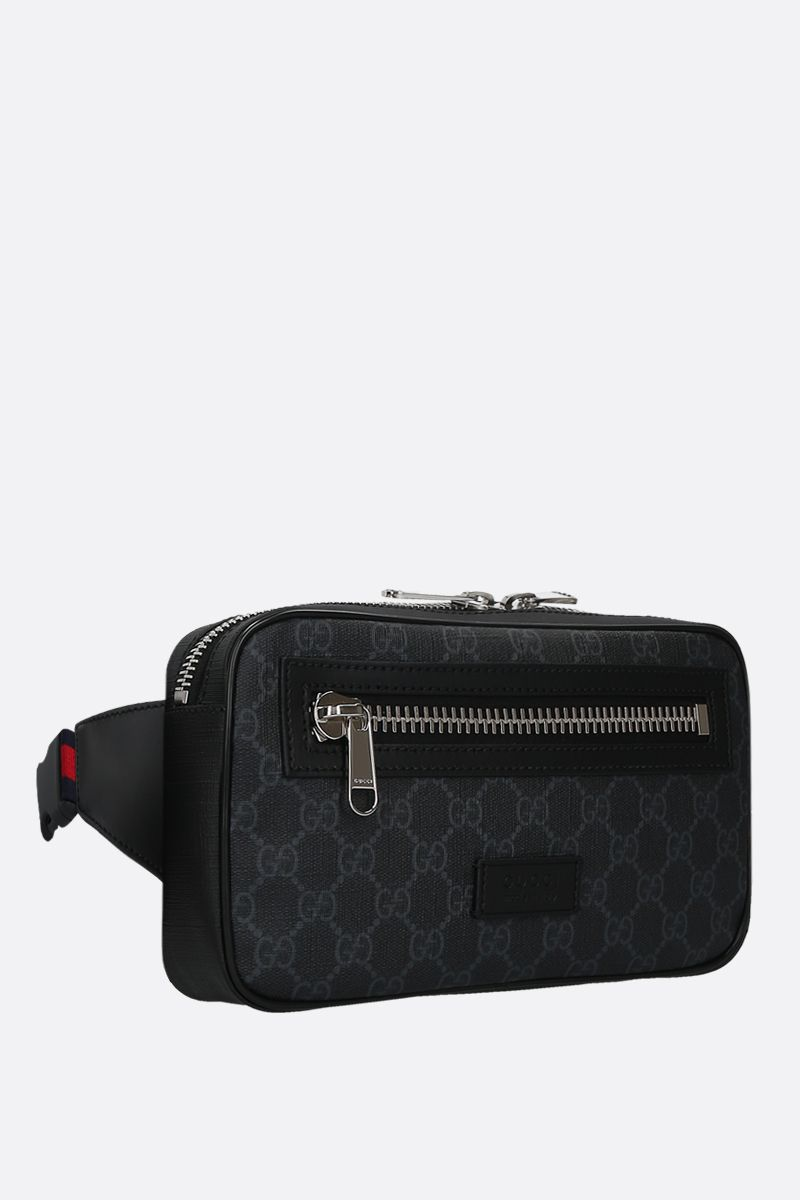 GUCCI: GG Supreme canvas belt bag Color Black_2