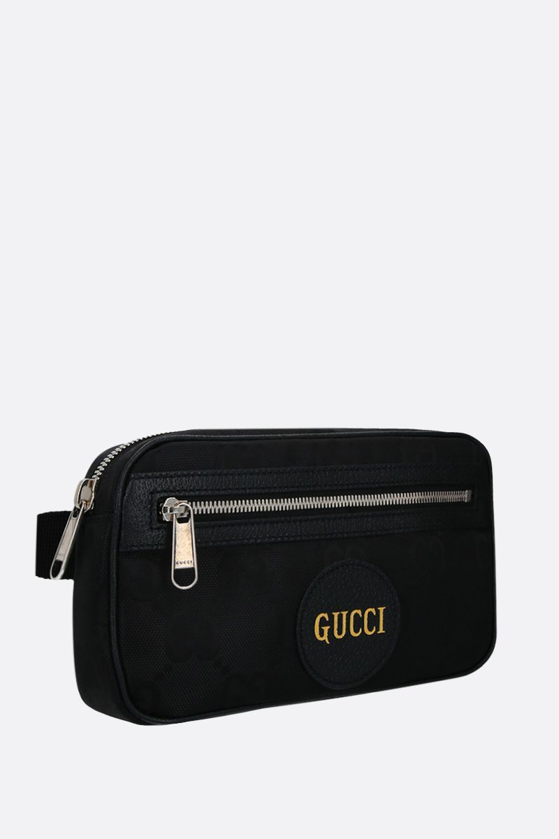 GUCCI: marsupio Gucci of the Grid in ECONYL® Colore Nero_2