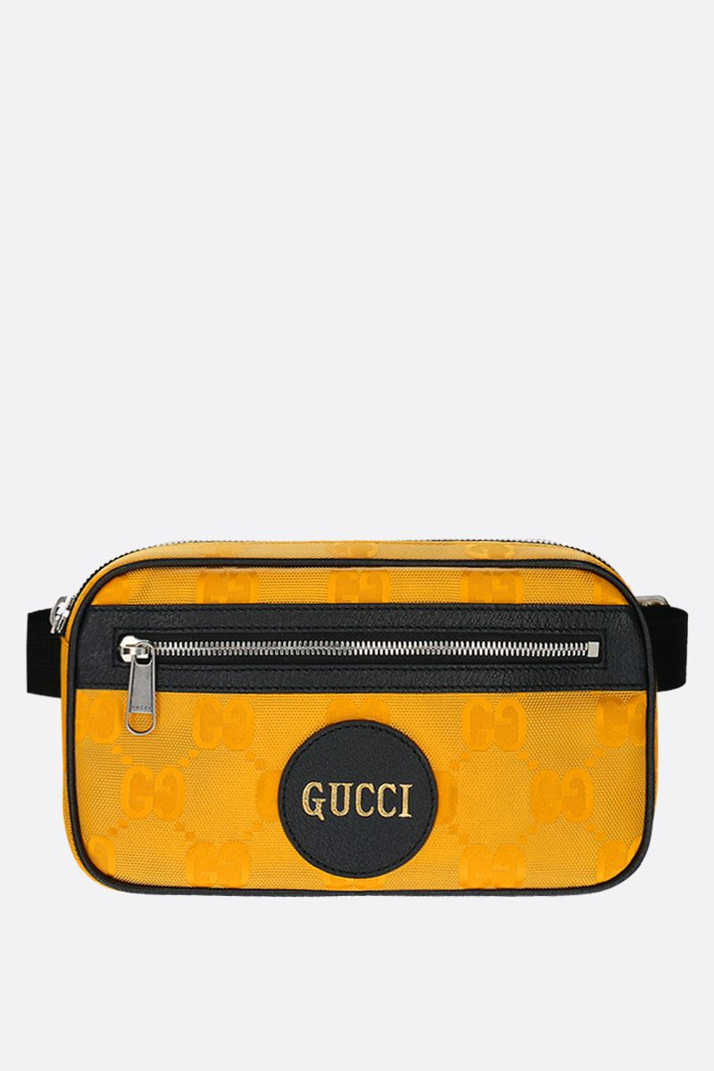 GUCCI: Gucci of the Grid belt bag in ECONYL® Color Yellow_1
