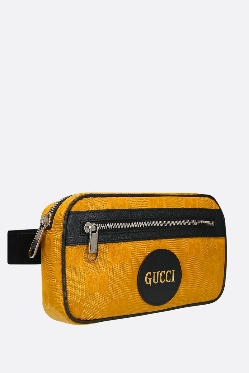 GUCCI: Gucci of the Grid belt bag in ECONYL® Color Yellow_2
