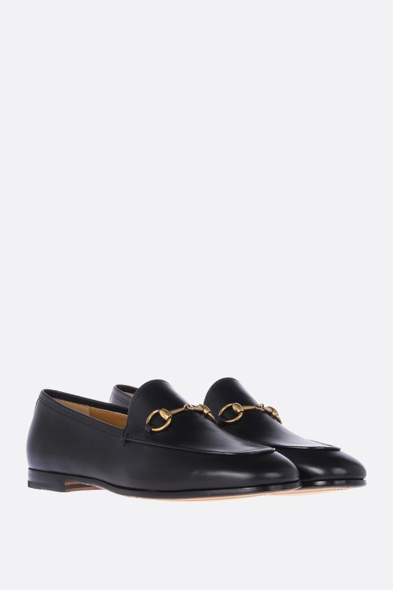 GUCCI: Jordaan smooth leather loafers Color Black_2