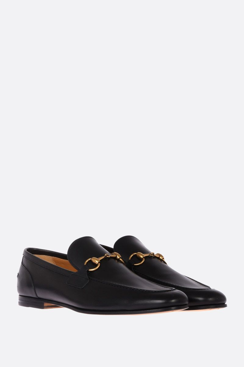 GUCCI: Jordan shiny leather loafers Color Black_2
