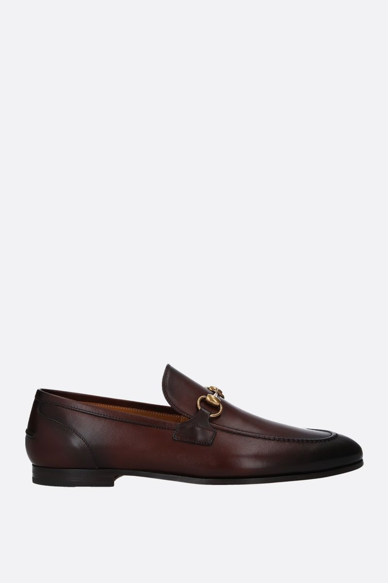 GUCCI: Jordan shiny leather loafers Color Multicolor_1