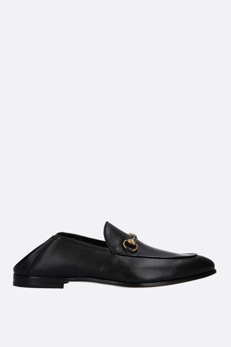 GUCCI: Brixton plongè nappa loafers Color Black_2