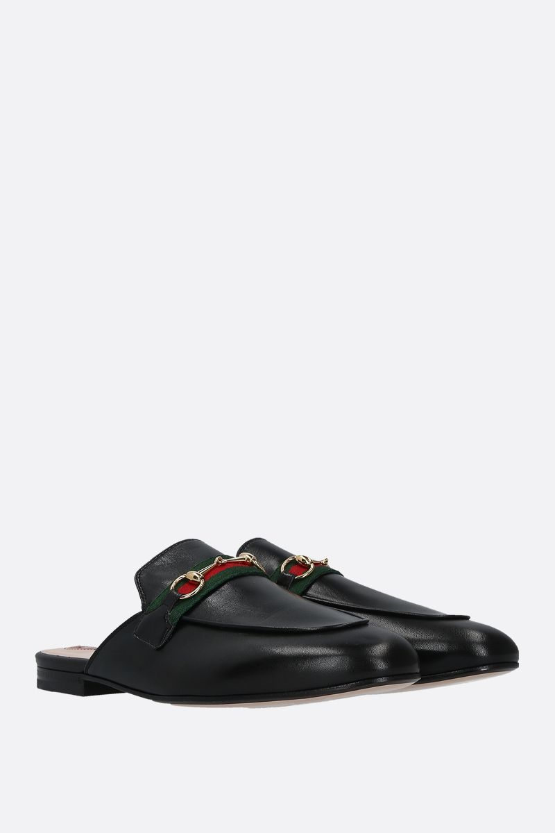 GUCCI: Princetown smooth leather slippers Color Black_2