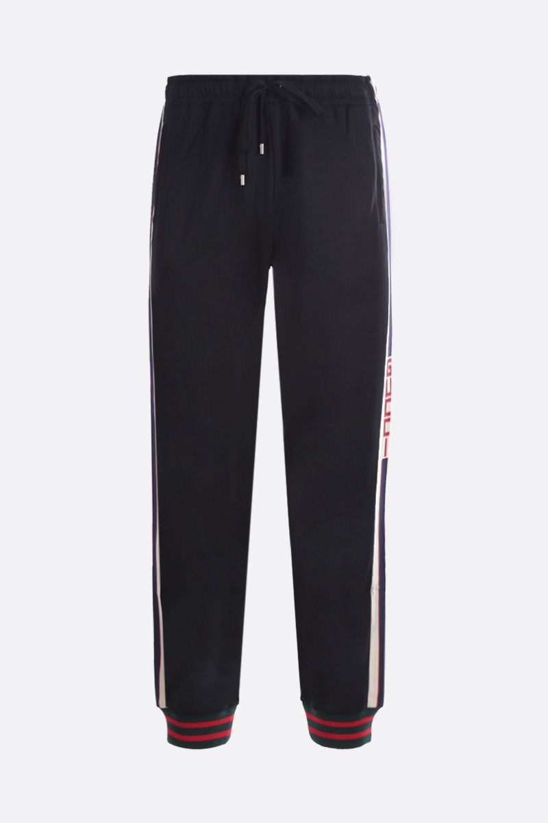 GUCCI: technical jersey joggers Color Black_1
