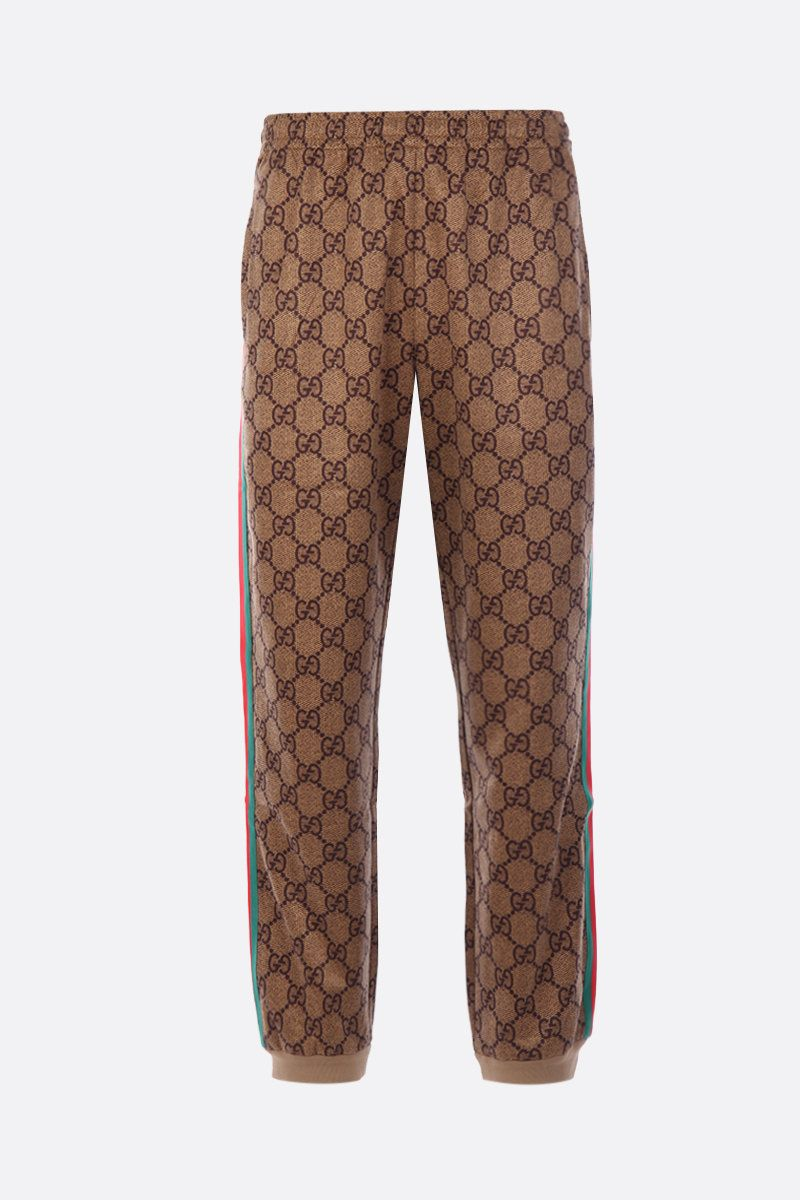 GUCCI: GG technical jersey joggers Color Neutral_1