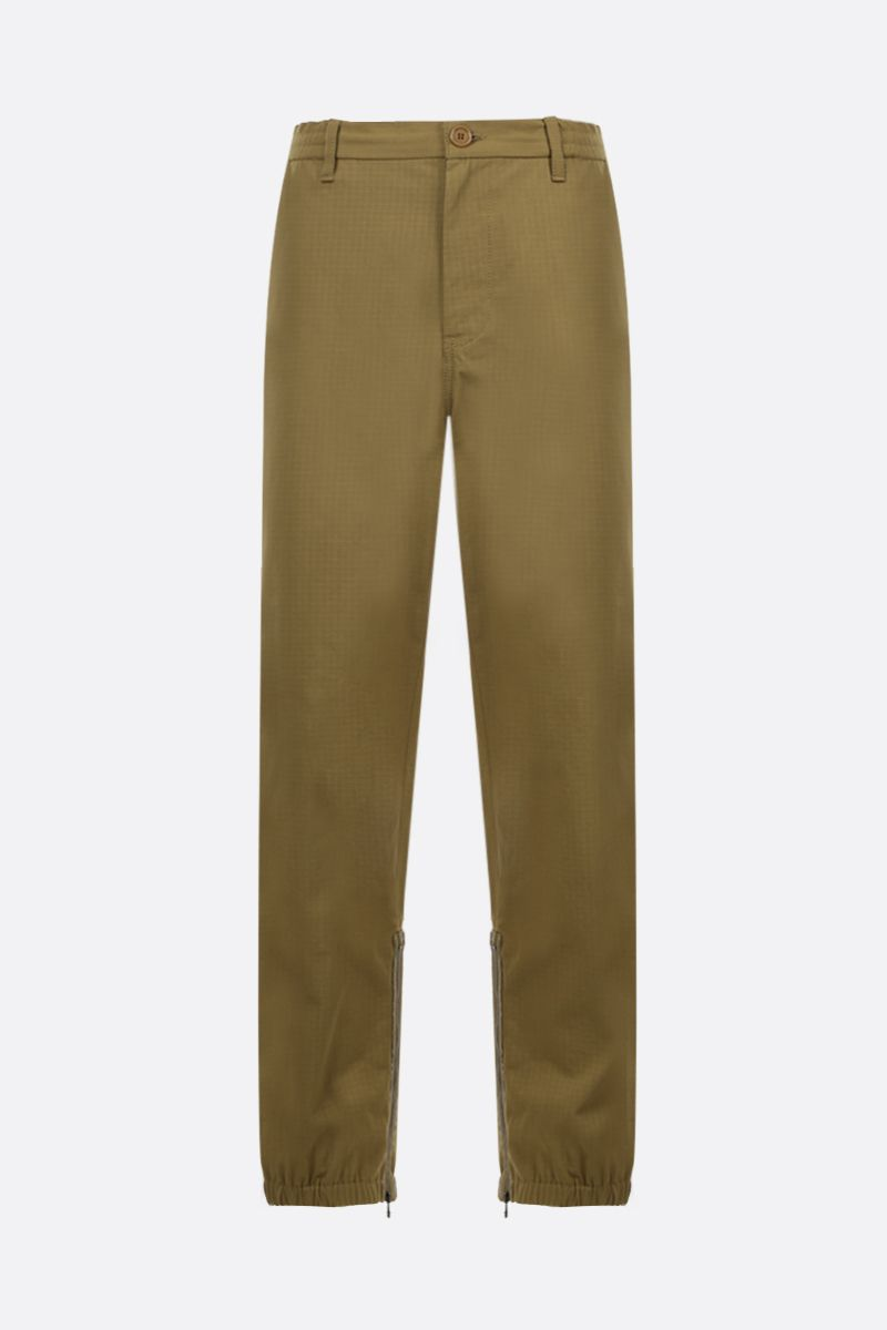 GUCCI: Web band-detailed cotton blend joggers Color Neutral_1