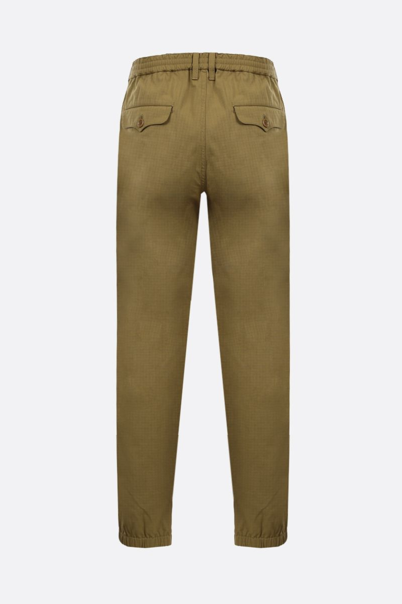 GUCCI: Web band-detailed cotton blend joggers Color Neutral_2