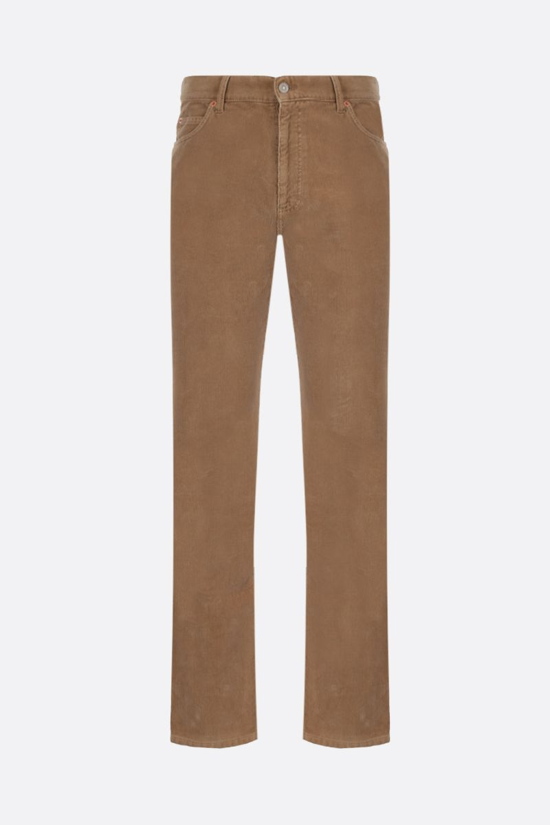 GUCCI: regular-fit corduroy pants Color Brown_1