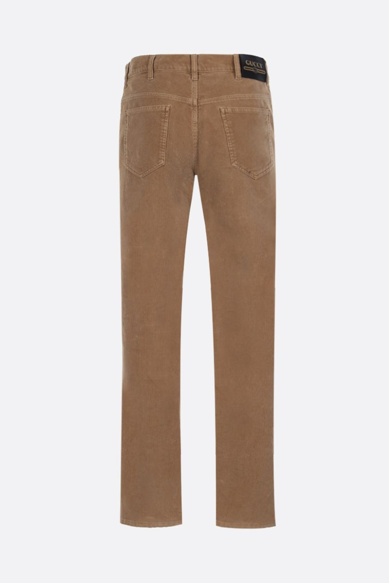 GUCCI: regular-fit corduroy pants Color Brown_2