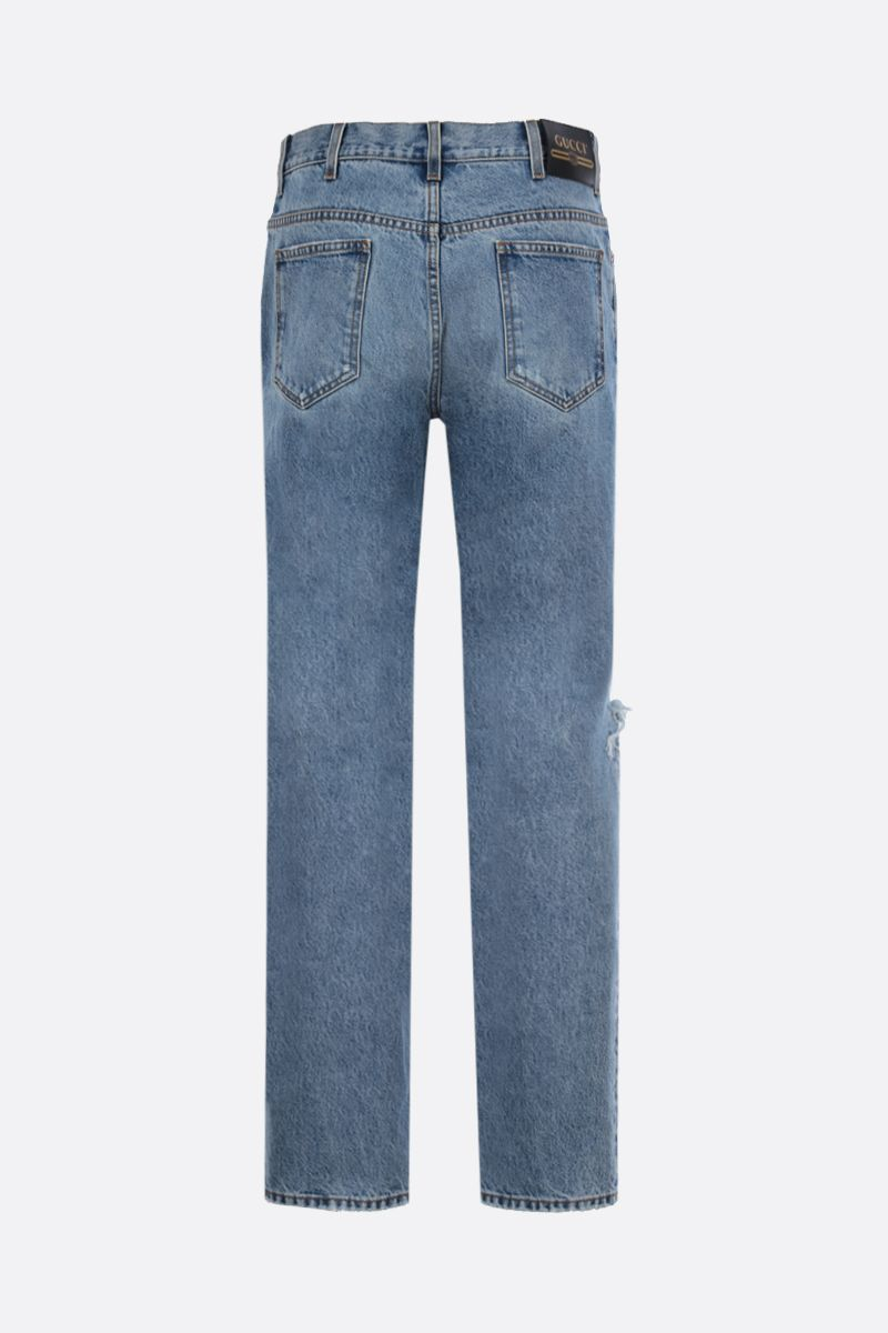 GUCCI: regular-fit jeans with distressed effect Color Blue_2