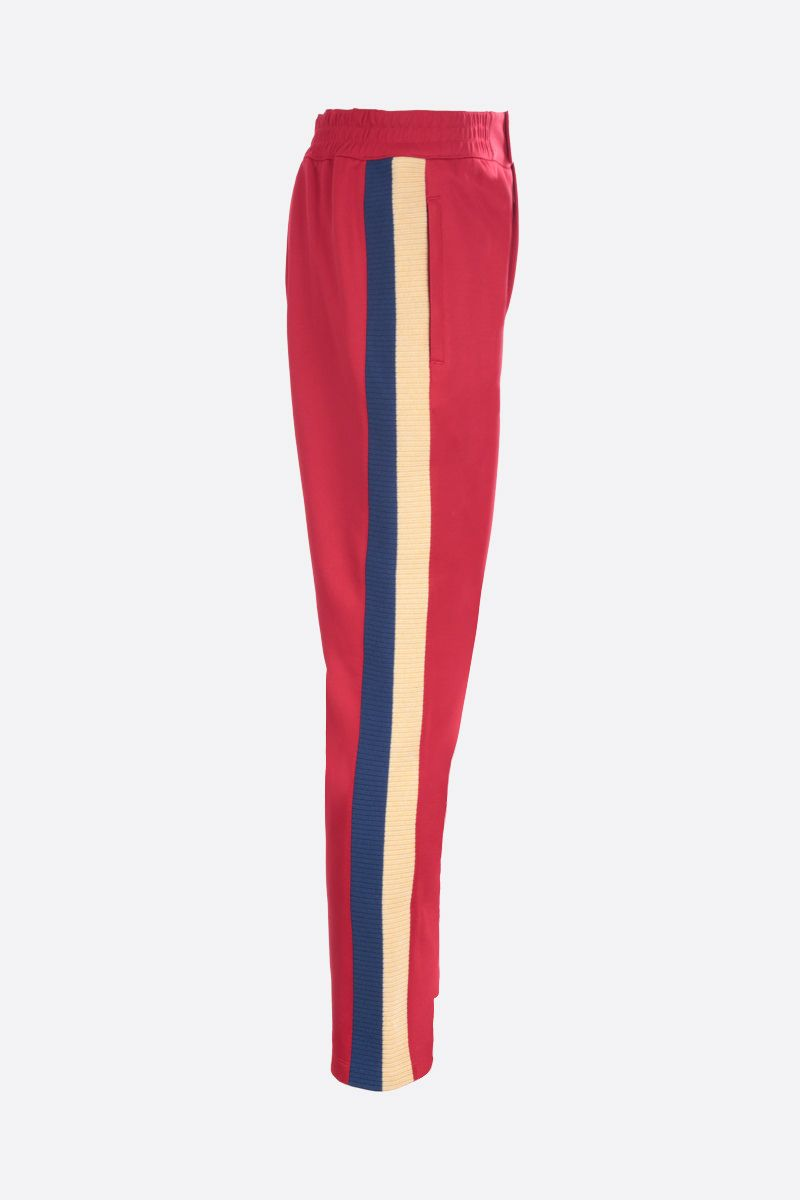 GUCCI: Web-detailed technical cotton joggers Color Red_2