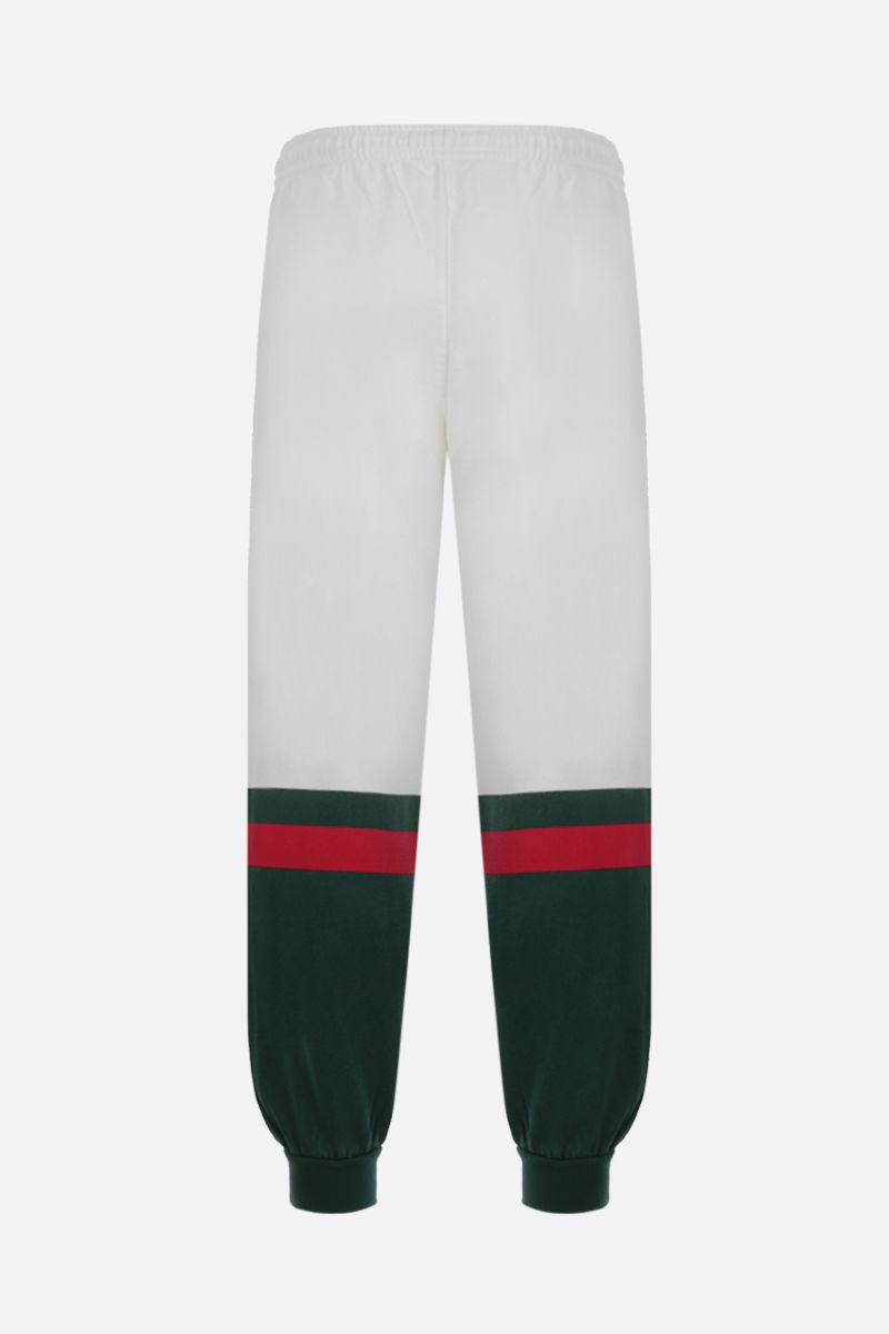 GUCCI: Web-detailed cotton joggers Color Neutral_2