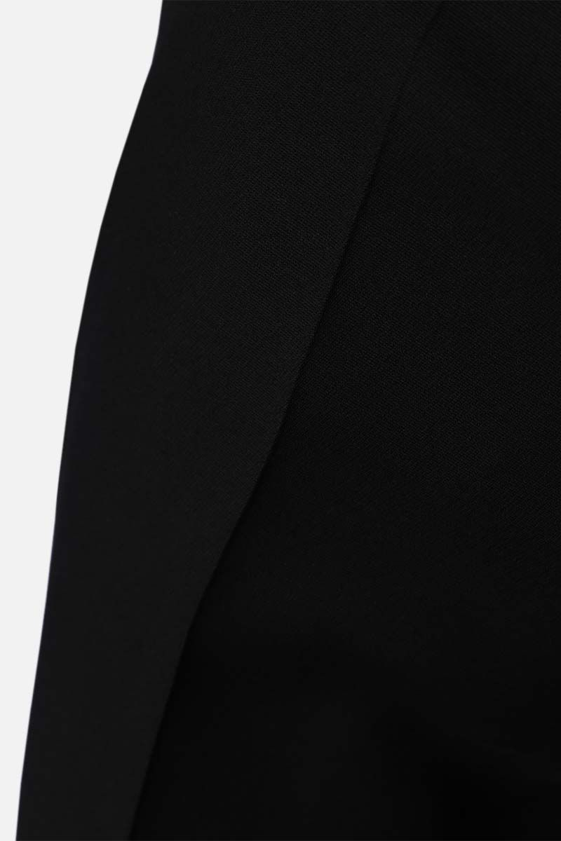 GUCCI: straight-fit silk wool blend pants Color Black_4