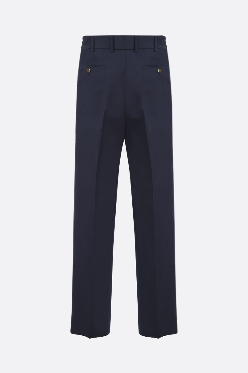 GUCCI: wool cotton blend regular-fit pants Color Blue_2