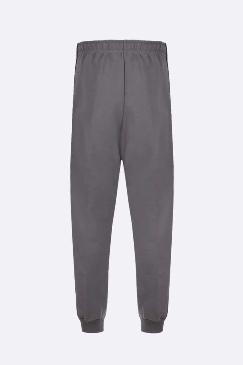 GUCCI: Interlocking G band-detailed cotton joggers Color Multicolor_2