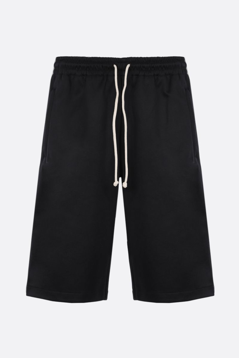 GUCCI: Interlocking G-detailed technical jersey shorts Color Black_1