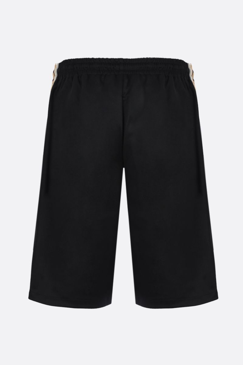 GUCCI: Interlocking G-detailed technical jersey shorts Color Black_2