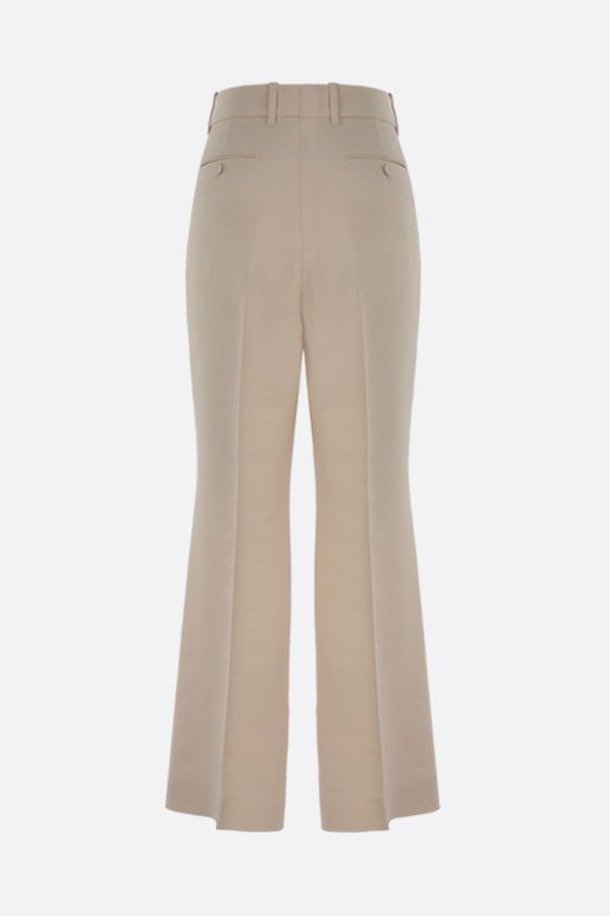 GUCCI: wool silk blend cropped pants Color White_2