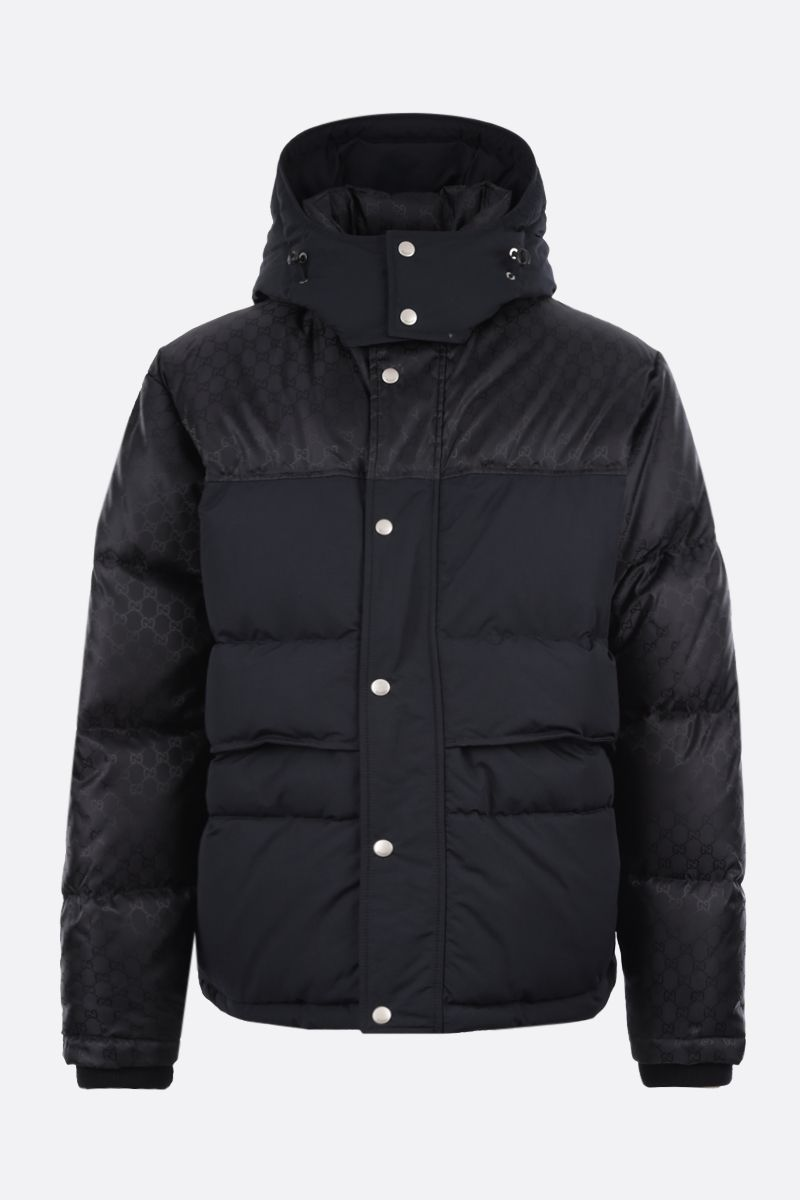 GUCCI: GG nylon down jacket Color Black_1
