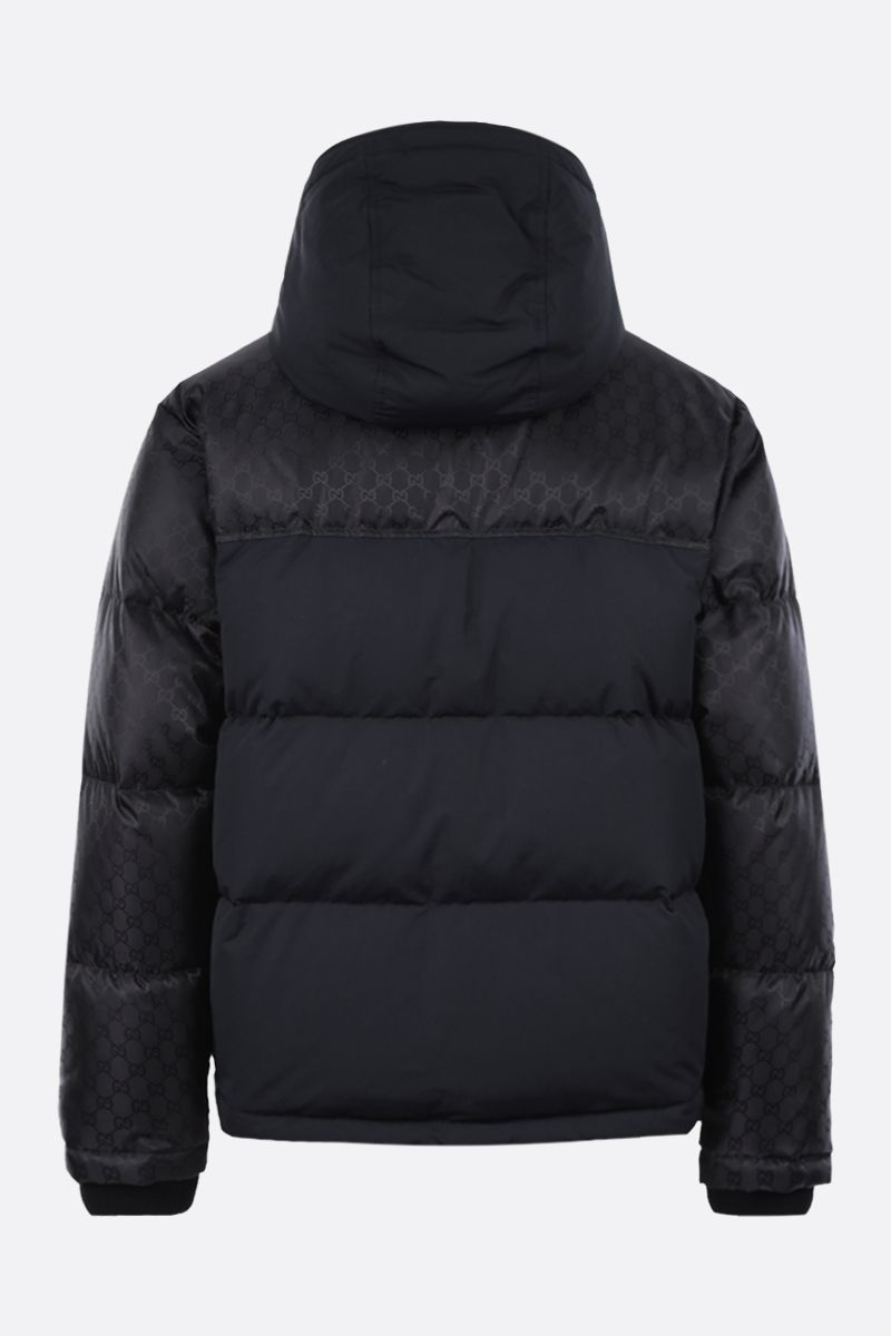 GUCCI: GG nylon down jacket Color Black_2
