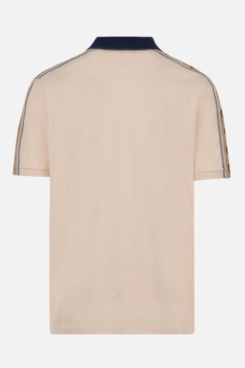 GUCCI: Interlocking G-detailed stretch cotton polo shirt_2