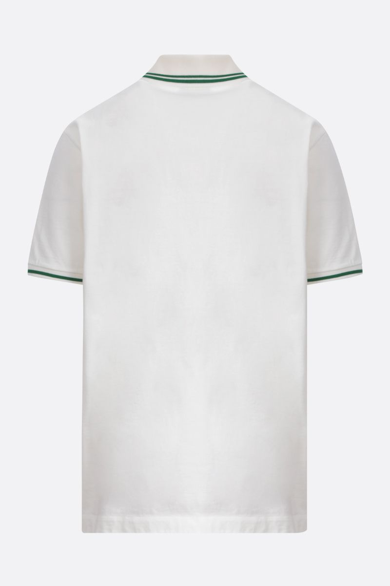 GUCCI: Web embroidered cotton polo shirt Color Multicolor_2