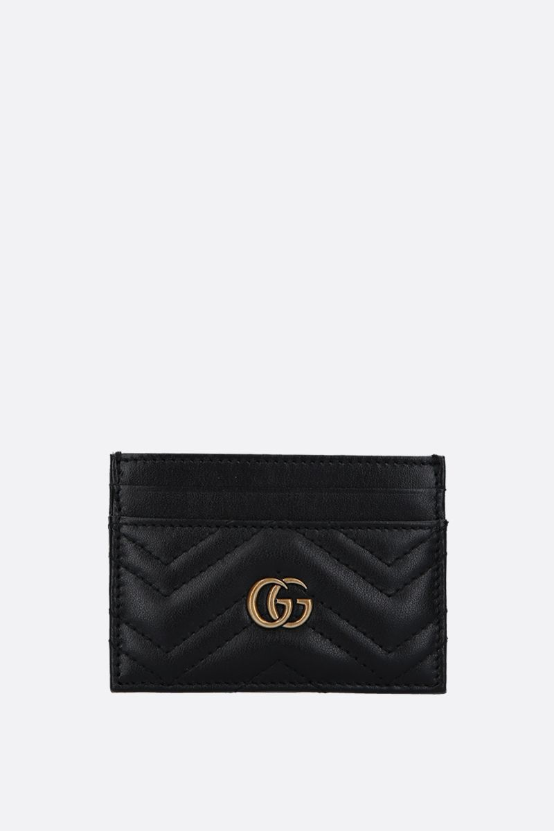 GUCCI: GG Marmont quilted leather card case Color Black_1