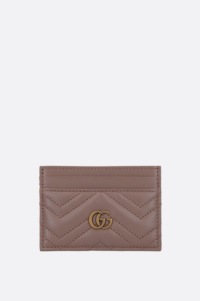 GUCCI: GG Marmont quilted leather card case Color Pink_1