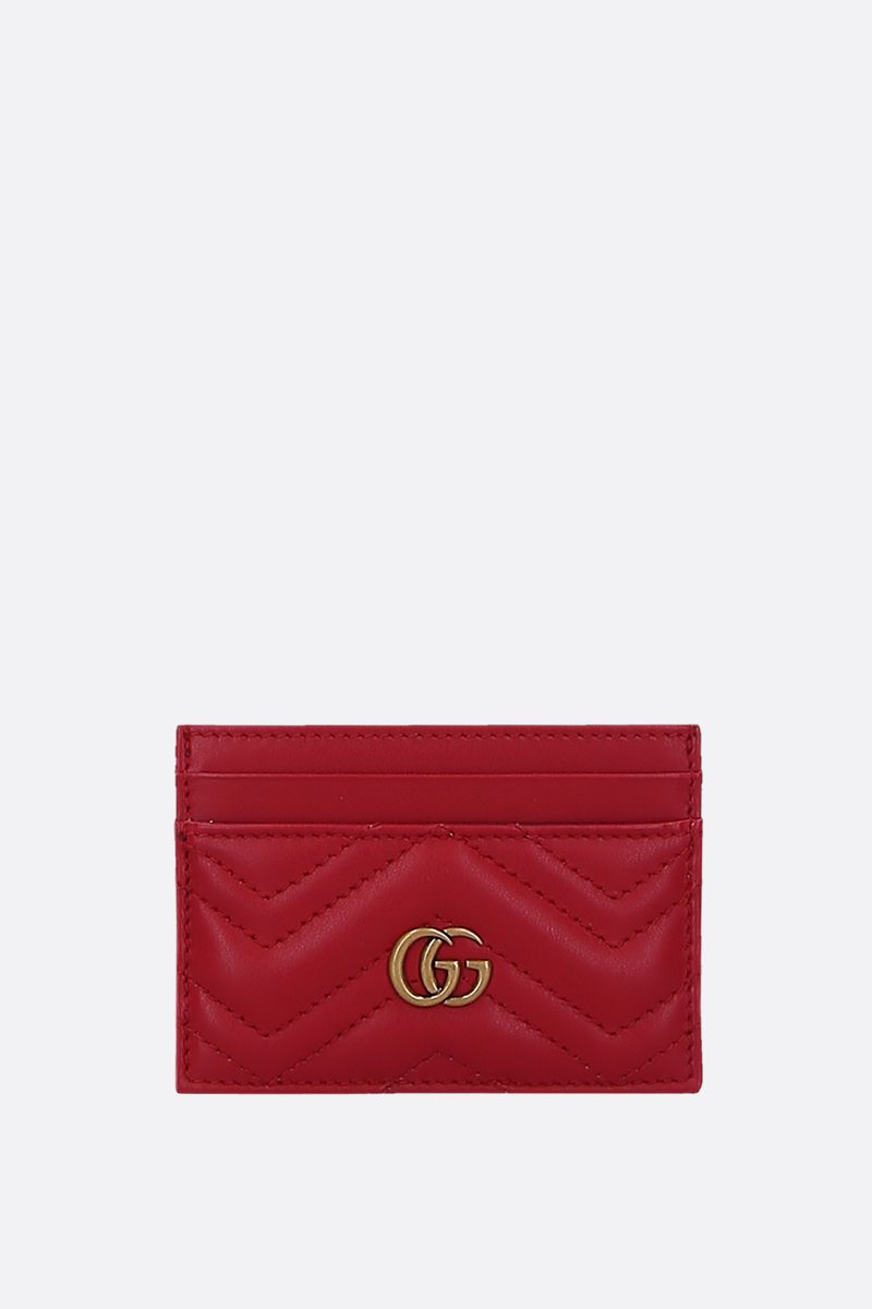 GUCCI: GG Marmont quilted leather card case Color Red_1