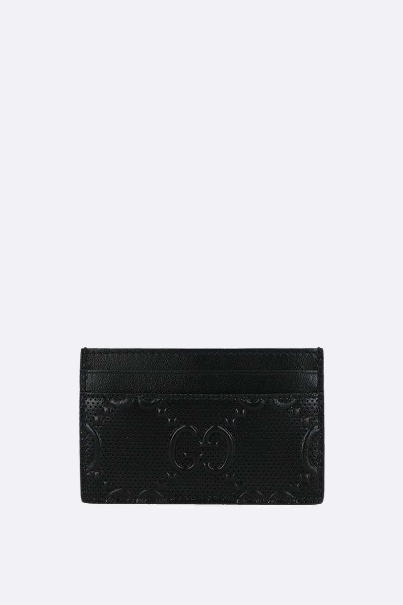 GUCCI: GG embossed leather card case Color Black_1