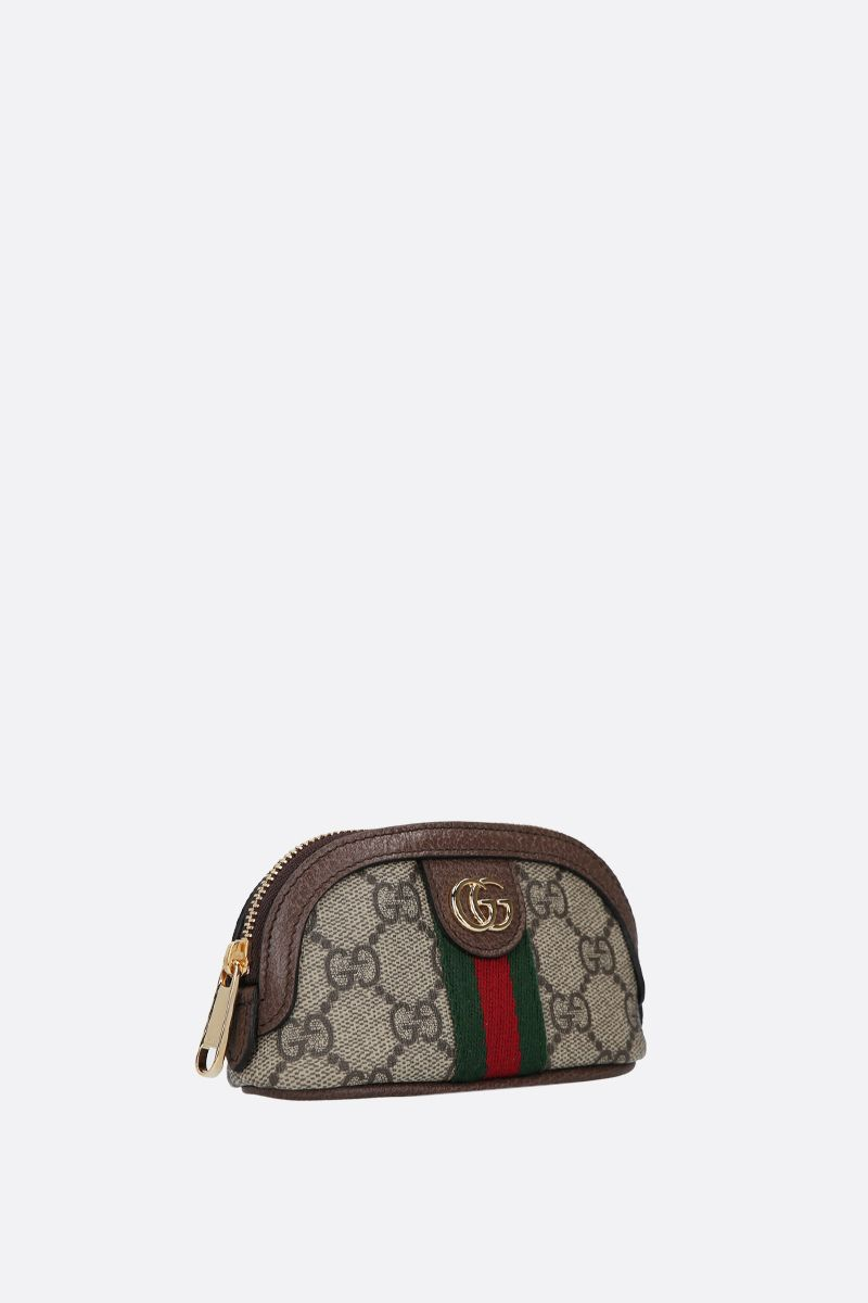 GUCCI: Ophidia key holder in GG Supreme canvas Color Neutral_2