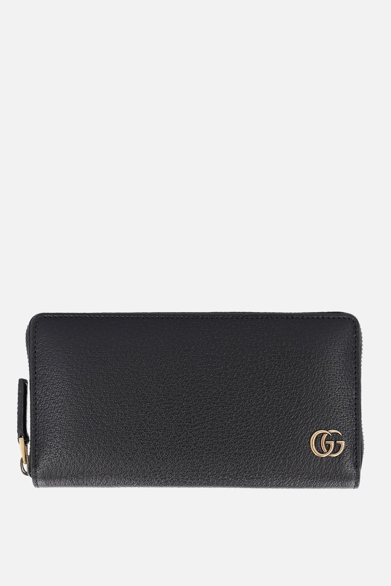 GUCCI: GG Marmont grainy leather zip-around wallet Color Black_1