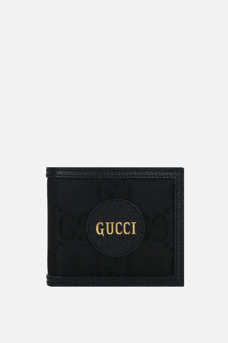 GUCCI: Gucci Off The Grid billfold wallet in ECONYL® and leather Color Black_1