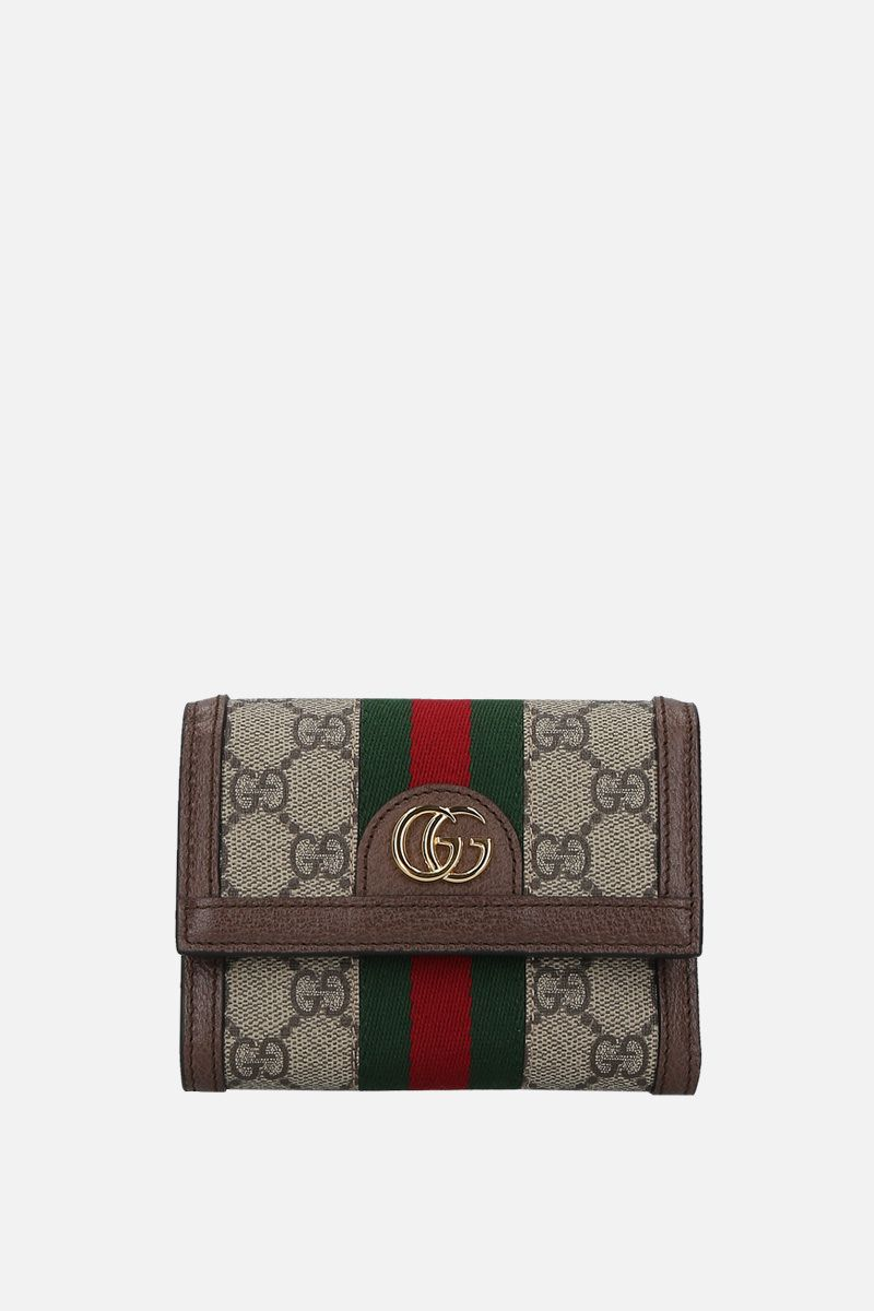 GUCCI: Ophidia continental wallet in GG Supreme canvas Color Neutral_1